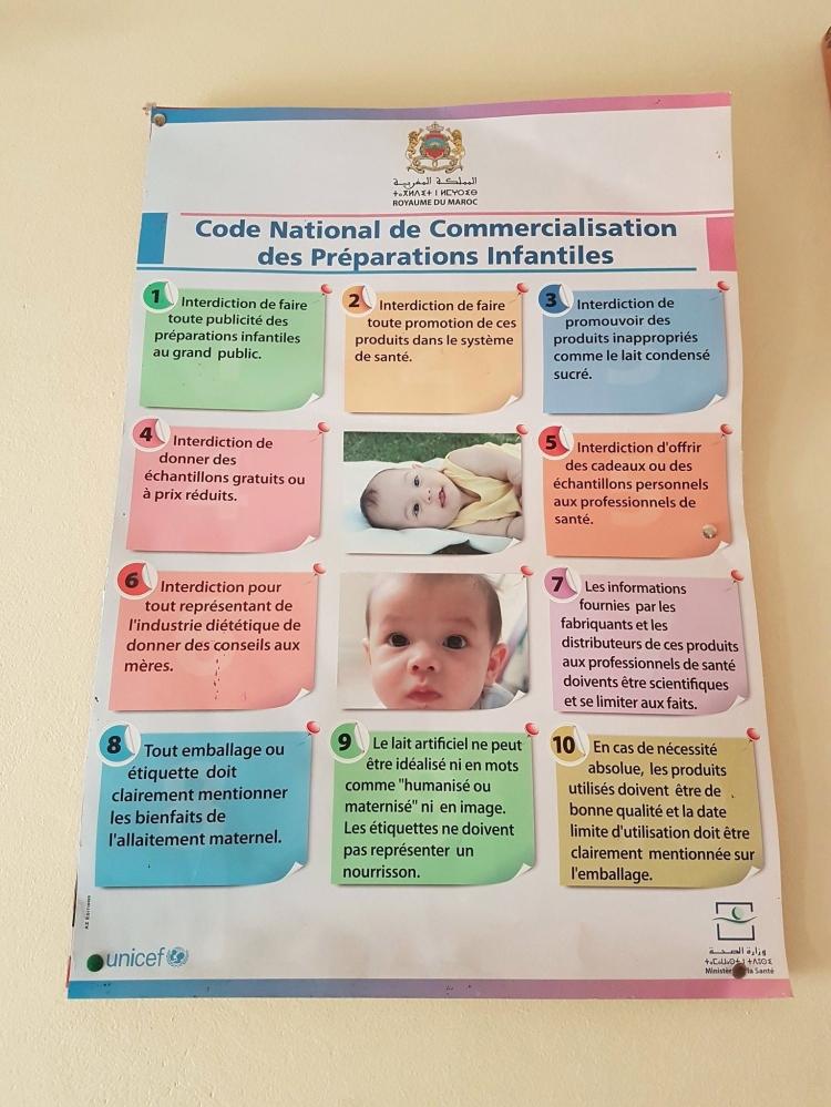 Código nacional para a comercialização de fórmulas no Marrocos