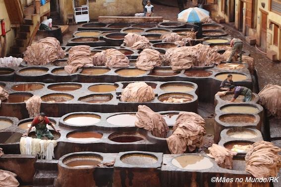 Curtição de couro em Fès